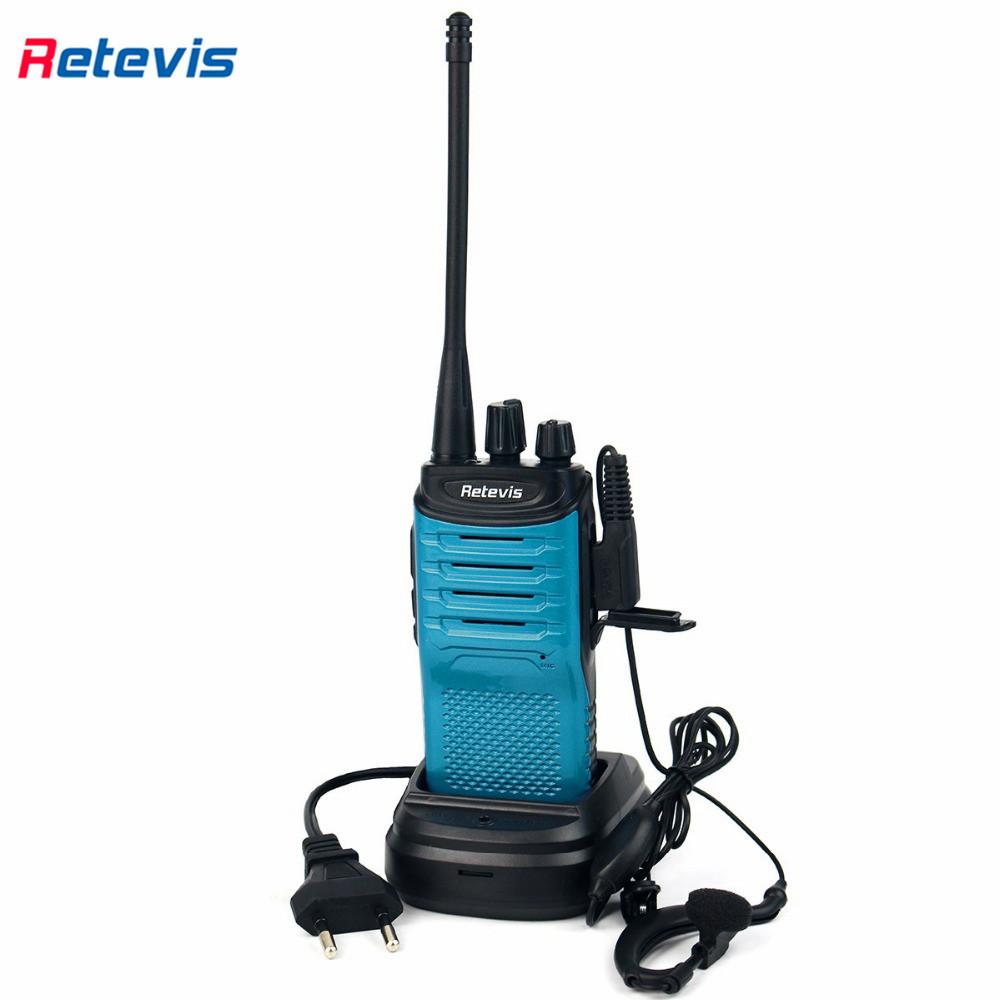 Blue Walkie Talkie Retevis RT7 5W 16CH UHF 400-470MHz Ham Radio Hf Transceiver Two Way Radio Portable FM Radio Scan Best A9111L(China (Mainland))