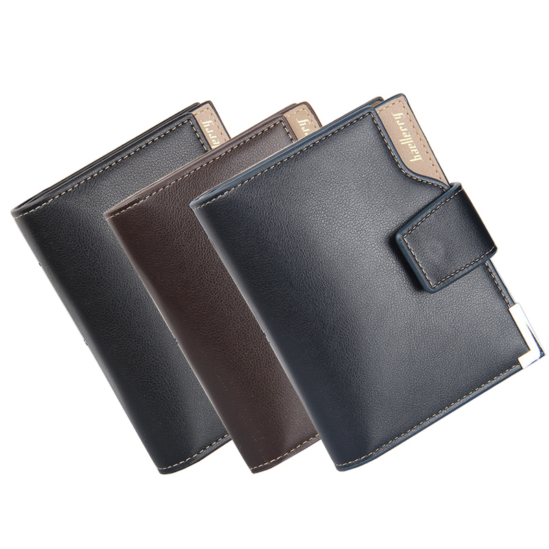 Fashion Men Short Wallets Bifold Wallet Mens Business Famous Brand Genuine Real Leather Card holder Hasp Wallet Purses Pockets<br><br>Aliexpress