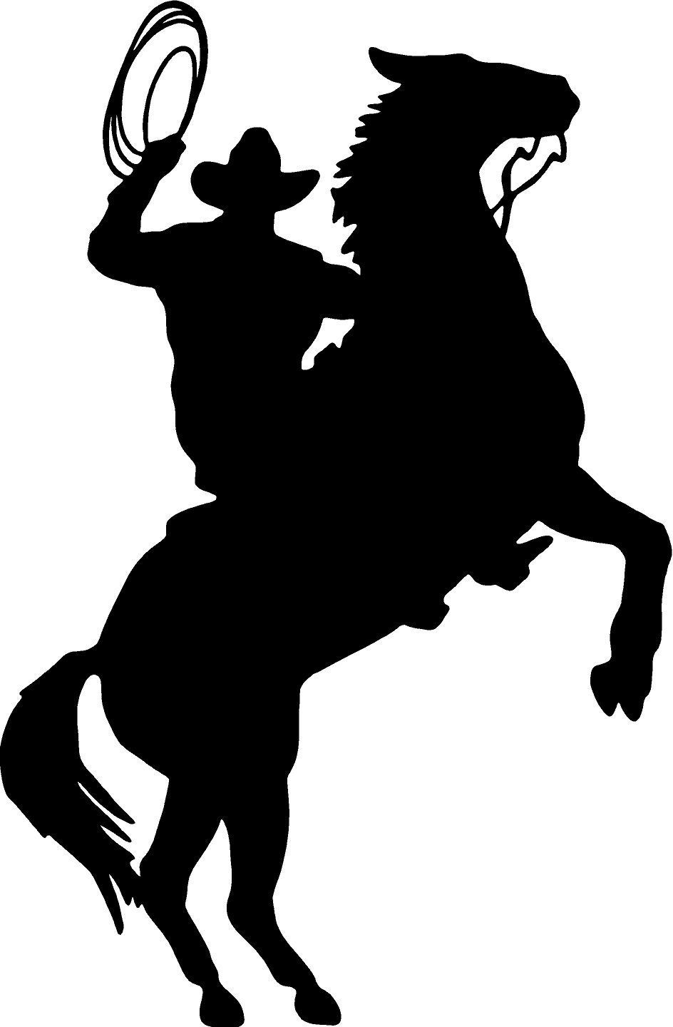 """COWBOY HORSE RIDER WESTERN WALL DECAL HOME DECOR SILHOUETTE LARGE 20"""" X 13""""Romoveable Pvc sticker Home decoration(China (Mainland))"""