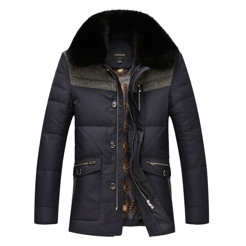 2015 New Brand Men Winter Duck Down Jacket Mens Coat Parkas With Fox Fur Collar Patchwork Jackets Cappotto Plus Size 8N109Одежда и ак�е��уары<br><br><br>Aliexpress