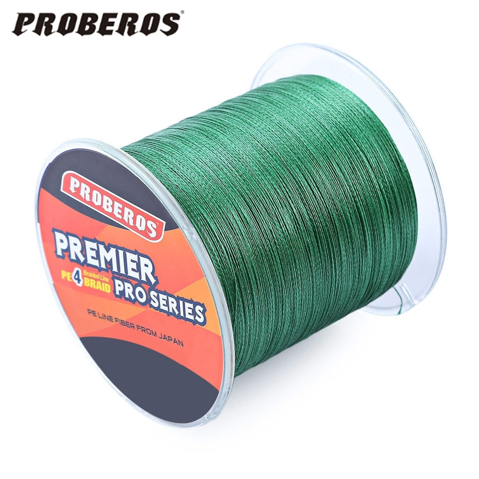PROBEROS Brand Fishing Line 500M Blade series Braided Fishing Line 4 Strands Multifilament PE Braided Wire Fishing Cord 6-80LB(China (Mainland))