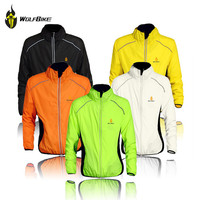 WOLFBIKE Tour de France Cycling Jersey Men Riding Breathable Jacket Cycle Clothing Bike Long Sleeve Vest Wind Coat 5 Colors