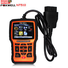 Free Shipping Original FOXWELL NT510 OBD OBDI OBDII Car Diagnostic Scan Tool Multi-system Diagnostic Tool and Clear Fault Codes(China (Mainland))