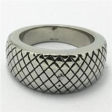Mens Boys 316L Punk Gothic Stainless Steel Cool Simple Style Silver Ring