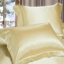 Best Sale Double Face Envelope Silk Pillow Case 100% Silk Pillowcase Camel White Back Side Open Pillow Cover Standard 48X74cm(China (Mainland))