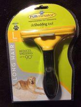 Professional dog Grooming Shedding Hair Tool Brush dog Comb Pet Rakes Cat fur Pet Comb With Original Retail Box(China (Mainland))