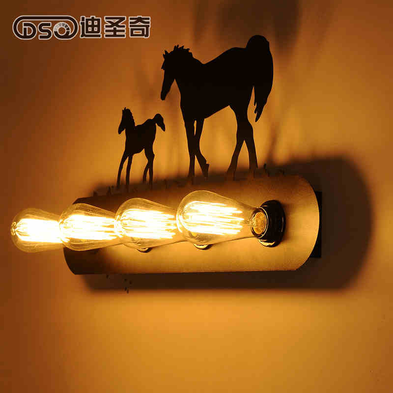 Vintage American country restaurant lighting European aisle stairs lamp bedside wall lamp like Ma creative animal wall lamp<br><br>Aliexpress