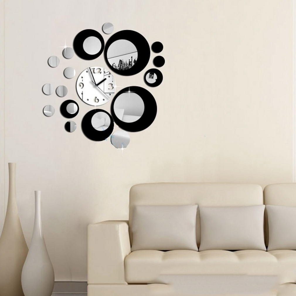 Wall Decor Clocks Modern : Aliexpress buy diy self adhesive modern acrylic