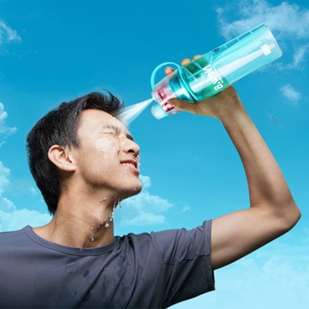 New Creative Sports Spray Water Bottle for Outdoor Bicycle Cycling Sports Gym Drinking Bottles 400ML 600ML(China (Mainland))