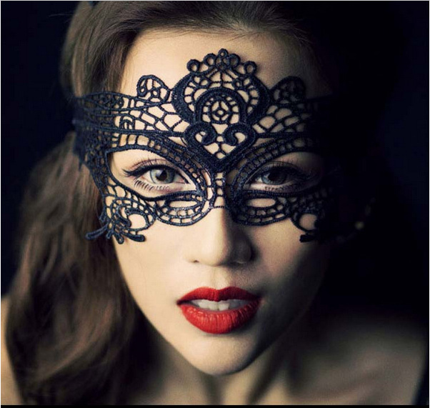 Black Sexy Lady Lace Party Masks, Cutout Eye Masks for Masquerade Party Fancy nightclub Party Xmas Adult Games(China (Mainland))