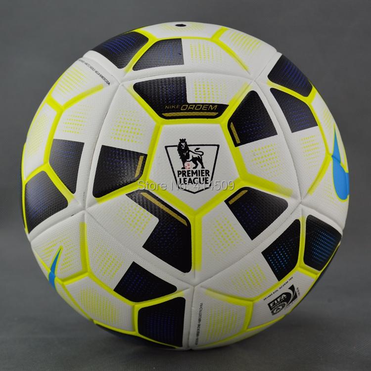 New arrival Premier League soccer Champions League Size 5 PU soccer ball Seemless granule slip-resistant football ball(China (Mainland))