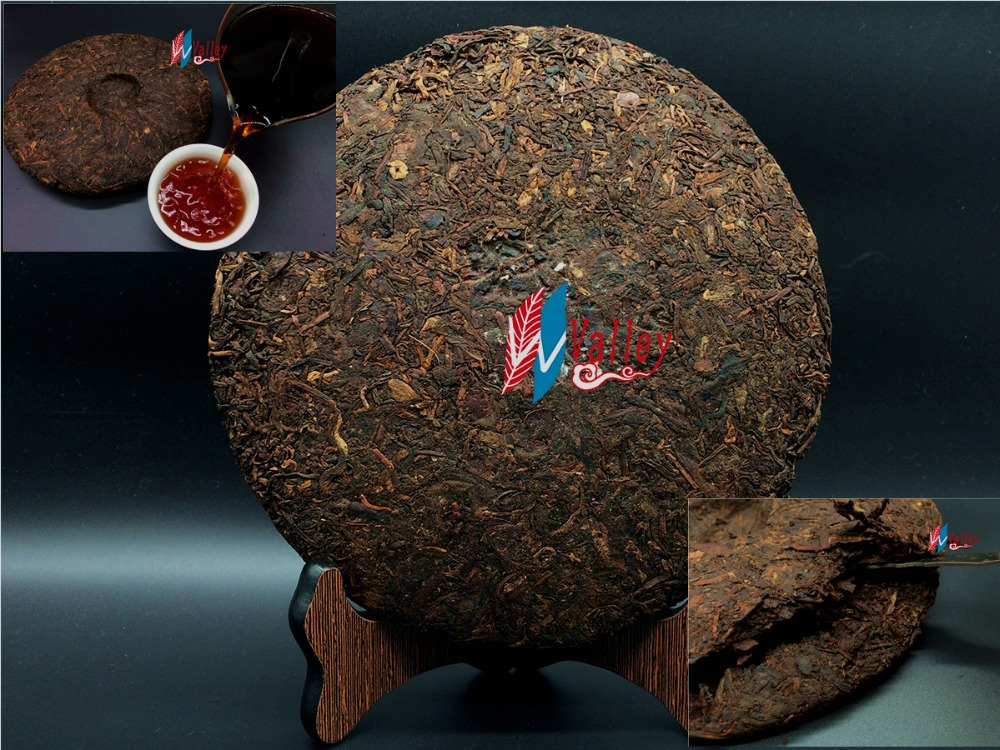 Yunnan puer ripe pu er tea 357g oldest puer tea ansestor antique honey sweet dull red