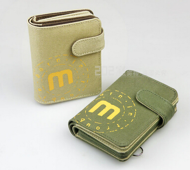 Khaki Multiple men&women casual drive license bank ID SD credit card case teenage canvas wallet with coin pocket free shipping(China (Mainland))