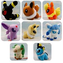 8 different styles pikachu soft stuffed plush animals anime kids toys Toys dolls stuffed toys pokemon plush toys(China (Mainland))