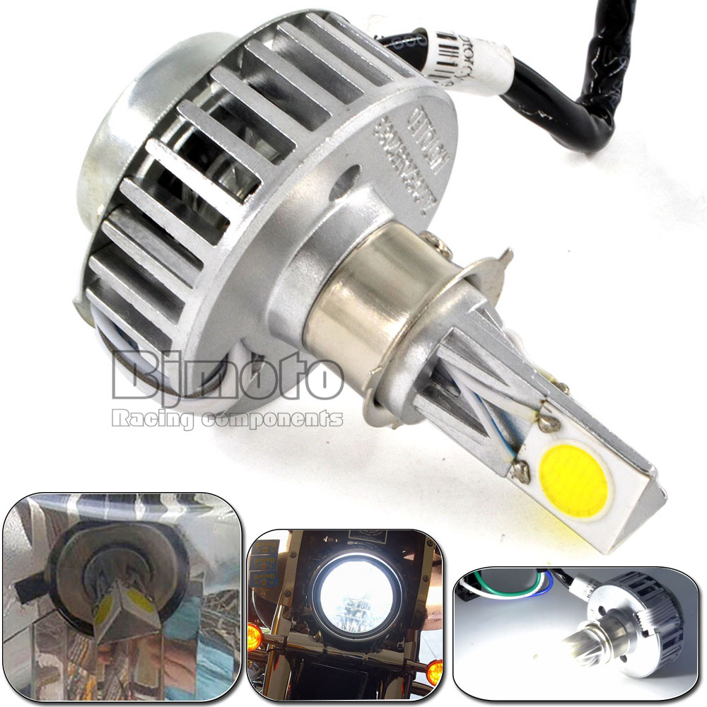 HL-001-WH 2500LM 18W 7-36V High/Low Beam Fog Light Bright Xenon Motorcycle LED Headlights(China (Mainland))