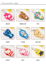 Creative cute cartoon portable stainless steel nail clippers, nail clippers pedicure silica gel nail manicure tools(China (Mainland))