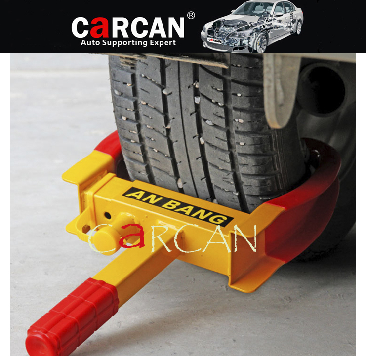 Car Automobile Anti Theft Wheel Lock BOAT Trailer Tires Clamp Anti-theft Car Lock Cold rolled steel plate Atomic lock core(China (Mainland))