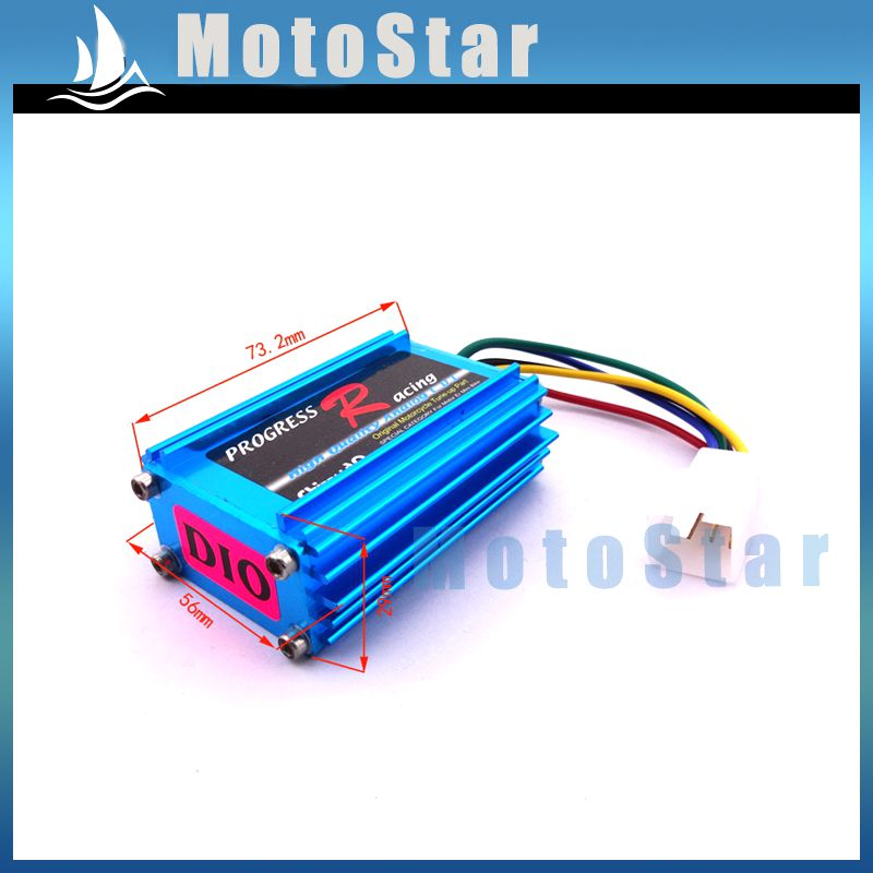 Blue Aluminum Racing CDI Ignition Box For Moped Scooter DIO Elite SA50 SB50 Spree SYM DD50(China (Mainland))
