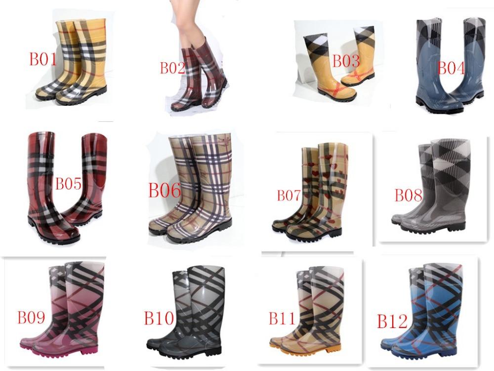 2016 classical rain boots high style fashion rain boots waterproof women branded luxure rain boot . kelly belt rain boot(China (Mainland))