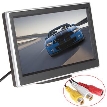 2 разъемы видеовход 5 дюймов TFT LCD дисплей 480 x 272 определение цифровой панели монитор вид сзади автомобиля для камеры заднего вида