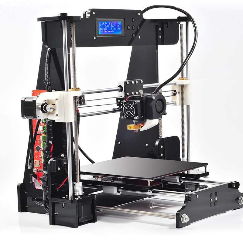 2016Upgraded Quality High Precision Reprap Prusa i3 2 color DIY 3d Printer kit with 1 Roll