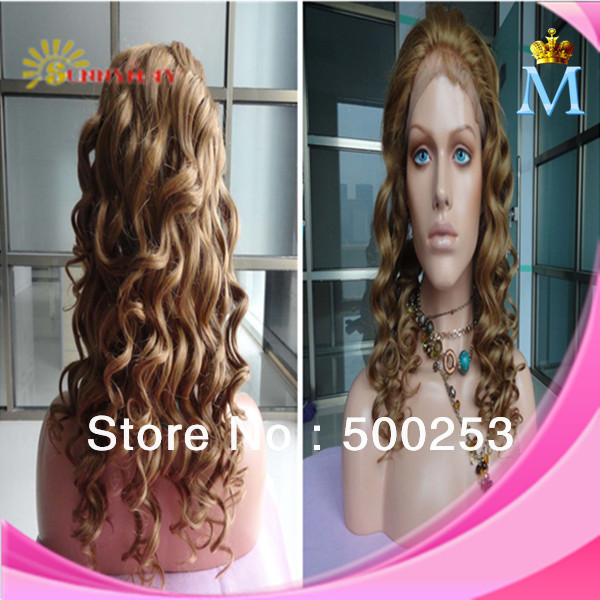 Fast shipping In stock 8-30 beautiful wavy Top Quality cheap Brazilian Remy Human Hair #8 with baby hair Full Lace Wig<br><br>Aliexpress