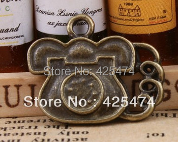 2015 New Free Shipping 100pcs 20*13mm Jewelry Telephone Shape Alloy Charms.vintage Style Bronze Diy Bracelet Charms.