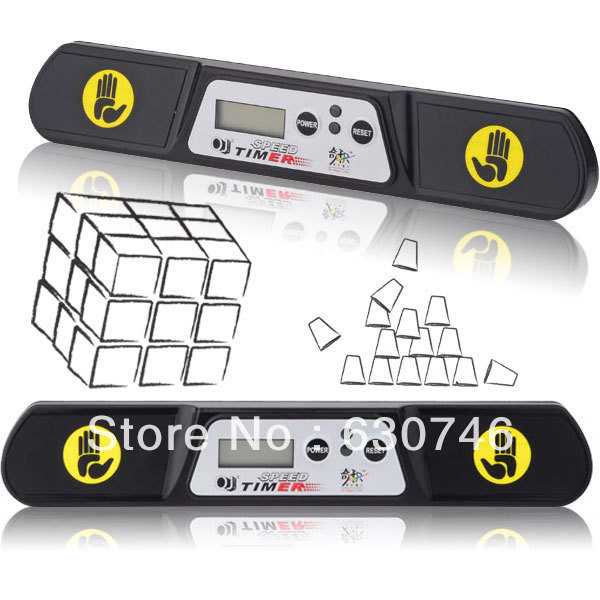 QJ Competition Magic Cube Timer Black (New Edition)()