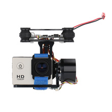 CNC FPV Quadcopter BGC 2 Axis Brushless Gimbal with Controller for GoPro 3 Camera DJI Phantom 1 2 Walkera X350 Pro(China (Mainland))