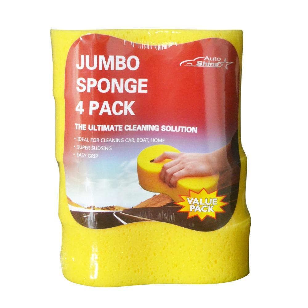 4pcs Auto Shine Car Wash Jumbo Sponges Value Pack for Car Washing & Cleaning(China (Mainland))