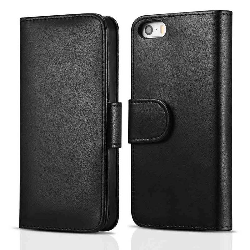 With Photo Frame PU Leather Case For iPhone 5 5S 4 4S Phong Bag Wallet Style With Stand and 2 Card Holder(China (Mainland))
