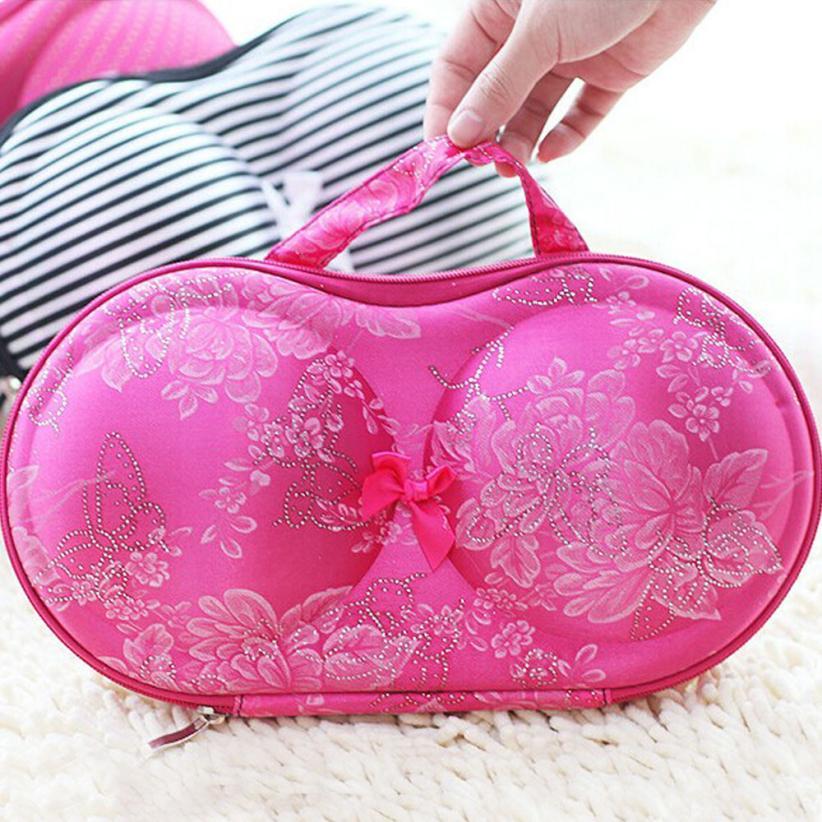 Prevalent Underwear Case Travel Portable Storage Bag Box Protect Bra Organizer Free Shipping Mar19(China (Mainland))
