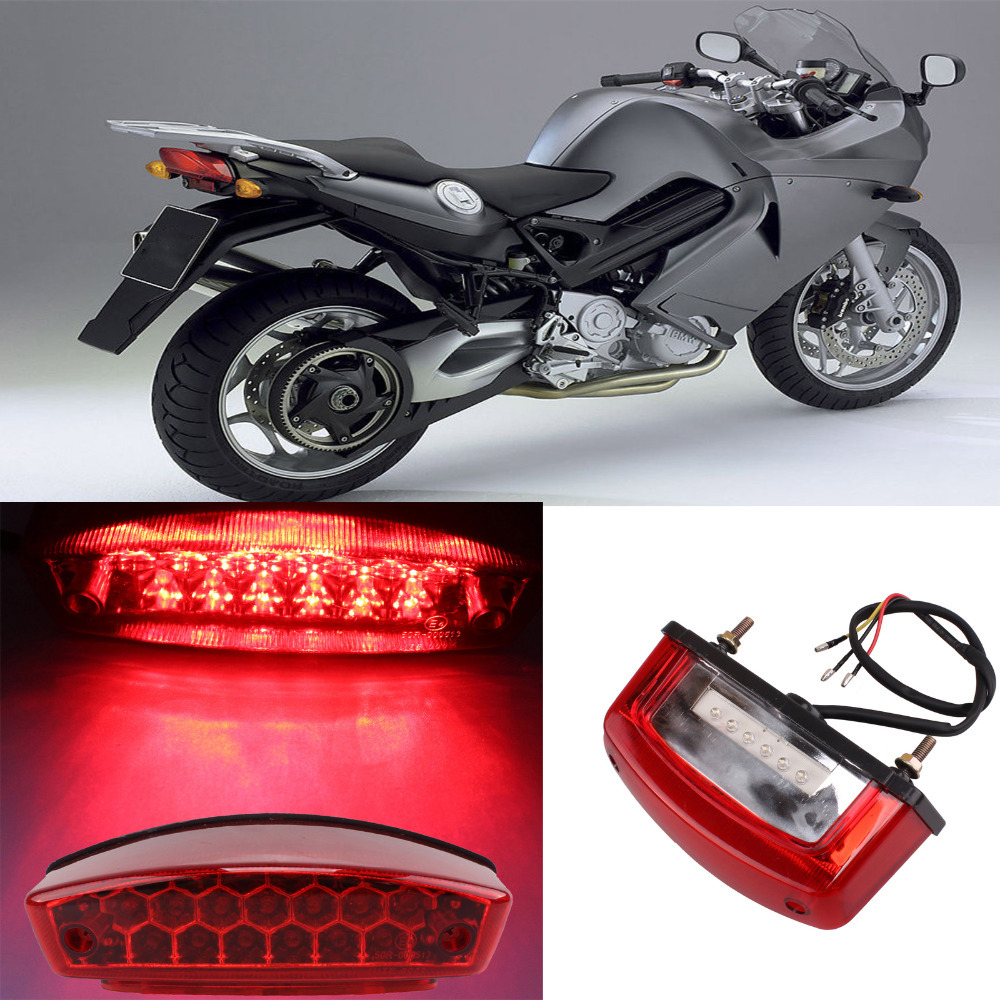 Led Lights For Motorcycles : Universal motorcycle led brake tail light turn signal