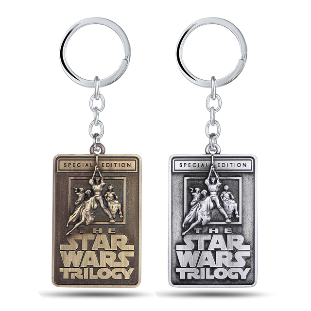 The Star Wars Trilogy Letters Keychains