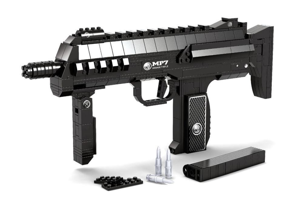 Ausini Submachine Assault GUN Series Building Blocks Toy Assembling Bricks GUN Weapon Arms Model Sets Compatible with LEGO<br><br>Aliexpress