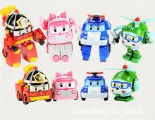 4pcs/Set Robocar Poli Toy Korea Robot Car Transformation Toys Best christmas Gifs For Kids toys free shipping(China (Mainland))