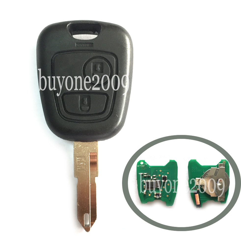 New Remote Key For PEUGEOT 206 2 Button 433MHz With Chip ID46 + Uncut Blank Blade<br><br>Aliexpress