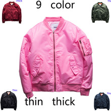 new style 9 color pink  Anarchy tour MA1 Black Army Green kanji pilot flight jackets Japanese Bomber baseball Coats military(China (Mainland))