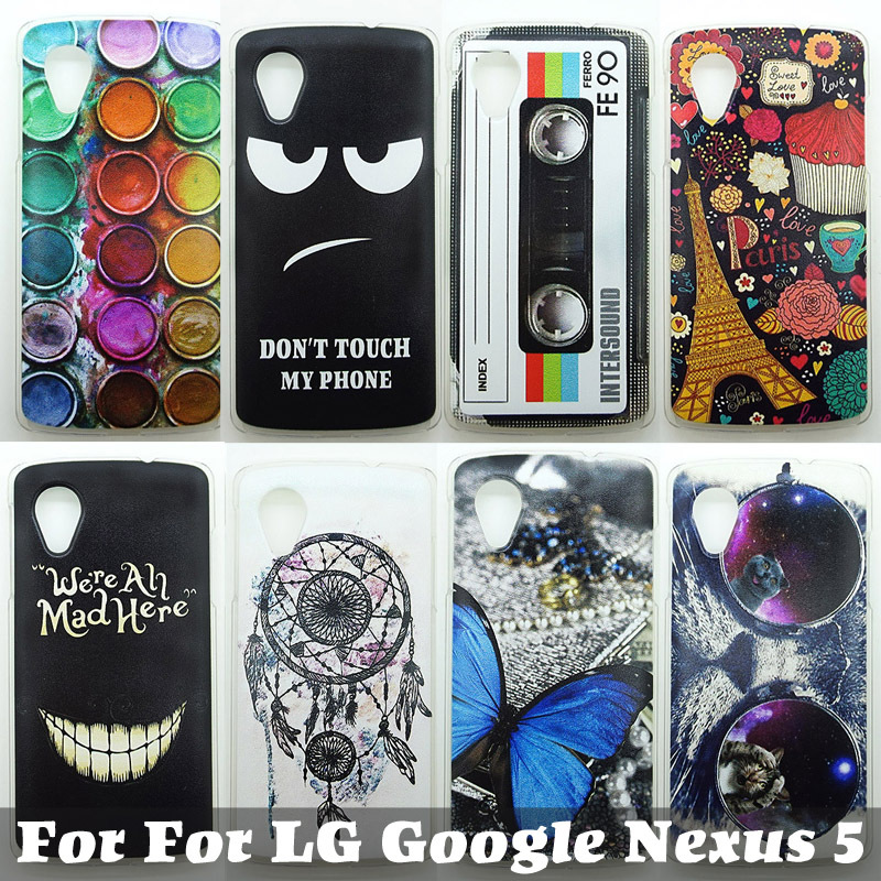 Case For For LG Google Nexus 5 D820 D821 E980 Colorful Printing Drawing PC Phone Cover For LG Nexus5 Hard Phone Cases 0811(China (Mainland))