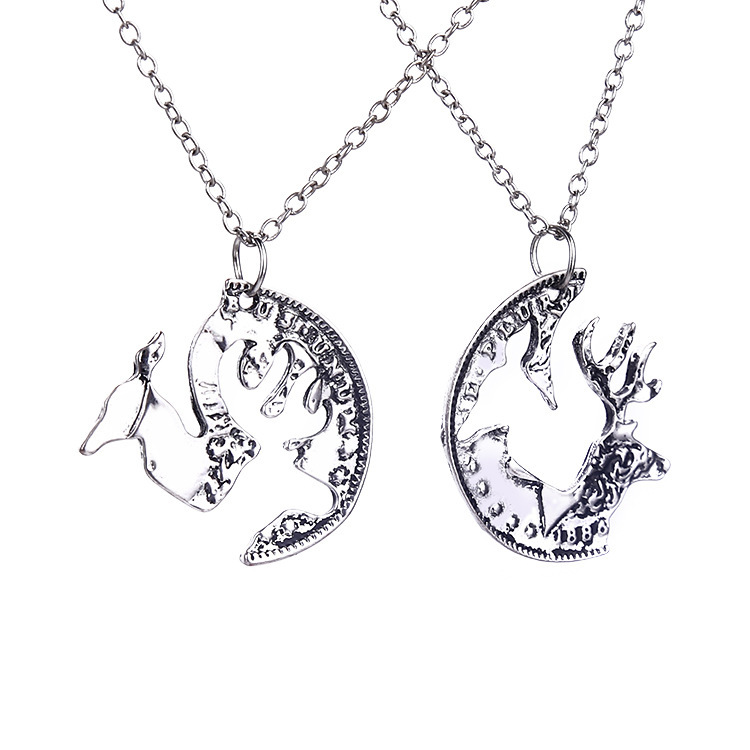 2015 fashion jewelry-Vintage romantic Elk camel pendant necklace chain for lovers couple nice gift for love boy girl friend (China (Mainland))