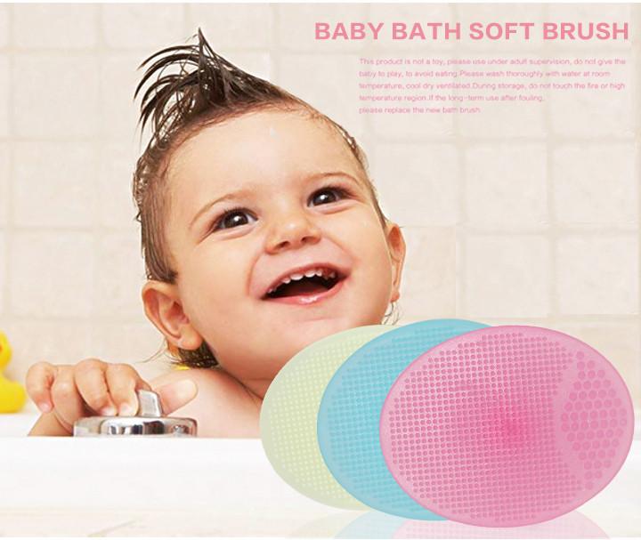 1 шт. ребенок мягкого силикона мыть волосы щеткой глава расслабиться массажер ванна кисти ребенка для мытья волос кисти
