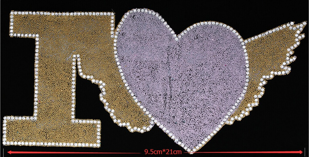 DIY 2015 New fashion viscose irregular Love wings shape Wedding clothing applique,Applies clothing,Wedding,Evening dress,Ms bag(China (Mainland))