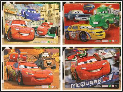 4pcsset educational paper jigsaw puzzles toys kids baby games toy thomas pixar car puzzles