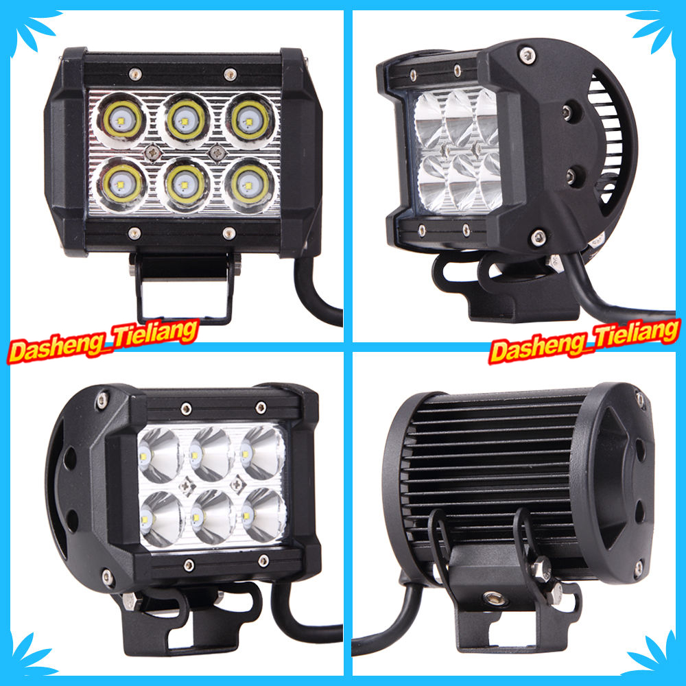 "2PCS 4"" 18W LED Work Light Bar Lamp for Motorcycle Tractor Boat Off Road 4WD 4x4 Motor Bike Truck SUV ATV Spot Flood 12v 24v(China (Mainland))"