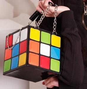 Fashion Hot Handbag Purse Gift,Girl Women's Cute Magic Cube Bag Products(China (Mainland))
