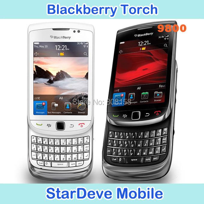 Refurbished Original Blackberry 9800 Torch 9800 Unlocked Original cell phone free shinpping(China (Mainland))