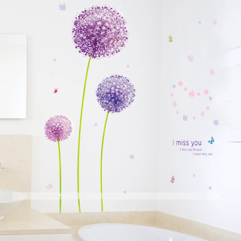 Wall stickers romantic tv wall stickers purple dancingly