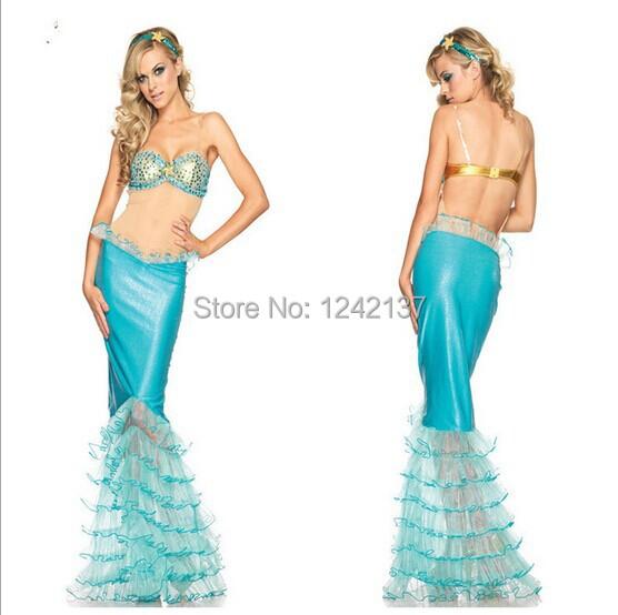Mermaid Princess costumes halloween costume party dress(China (Mainland))