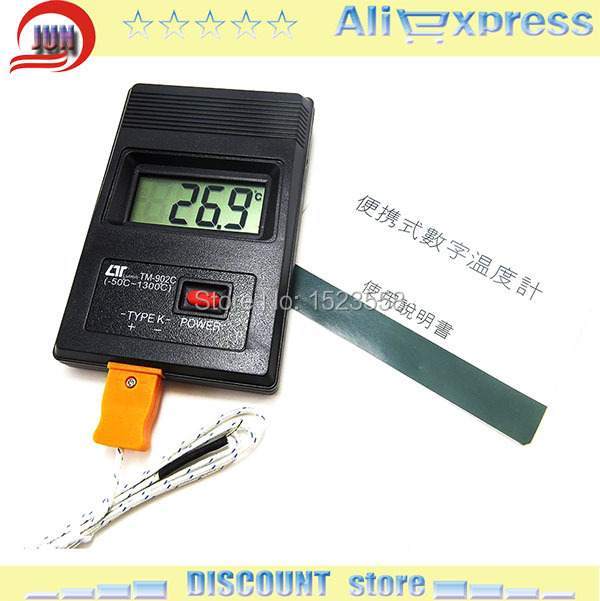 TM 902C Tm902c Digital LCD Type K Thermometer Temperature Single Input Pro Thermocouple Probe detector Sensor Reader Meter(China (Mainland))