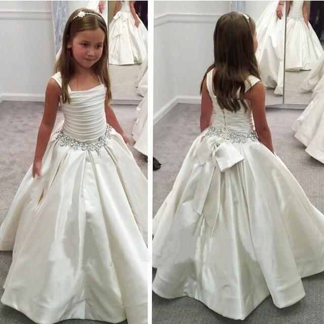 elegant-girls-white-first-holy-communion-dresses-beading ...